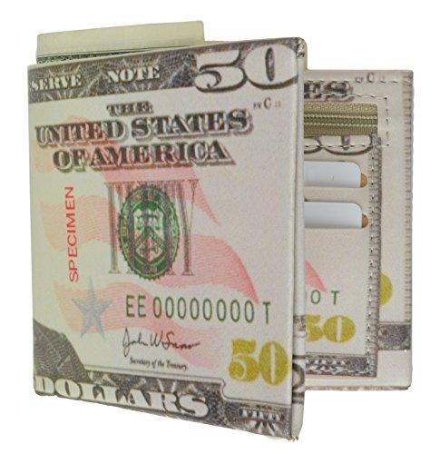 Men'S Billfold Wallet Plastic / Tyvek Bifold Walletby Marshal (50 Dollar Bill)
