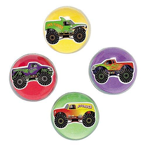 Monster Truck Bouncing Balls (1 Dozen) - Bulk - 1