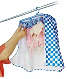 アイクォーク ピンチハンガー用洗濯物干しカバー 【ランドリーナ】 チェック柄(スカイブルー) IQK-L760B