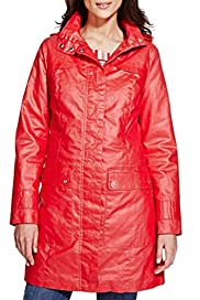Per Una Pure Cotton Detachable Hood Padded Mac with Stormwear [T62-0600J-S]