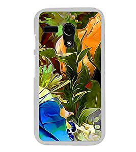 Colourful Flowers Pattern 2D Hard Polycarbonate Designer Back Case Cover for Motorola Moto G :: Motorola Moto G (1St Gen)