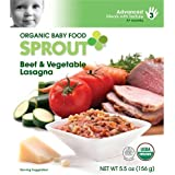 Sprout Advanced Organic Baby Food Beef & Vegetable Lasagna - 5.5 Oz Pouch