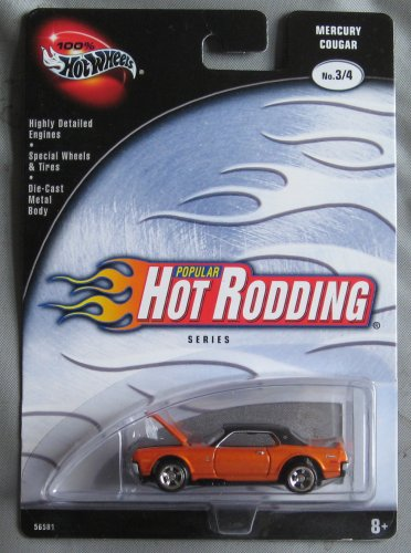 Hot Wheels Popular Hot Rodding Series 3/4 Mercury Cougar ORANGE