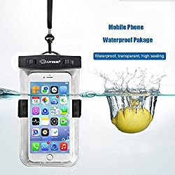 Waterproof Case,BAVIER® Universal Waterproof Bag,Waterproof Phone Pouch,Waterproof Phone Bag for iPhone,Samsung,fits phones size up to 6