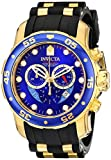 Invicta Mens 6983 Pro Diver Collection Chronograph Blue Dial Black Polyurethane Watch