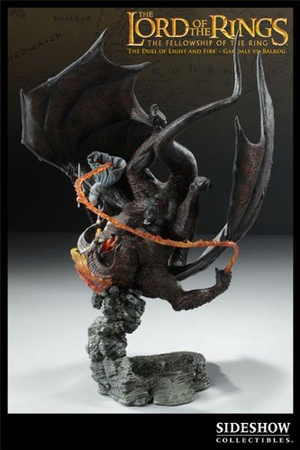 Picture of Sideshow Lord Of The Rings The Duel Of Light & Fire Gandalf VS Balrog Polystone Diorama By Sideshow Toys Figure (B0029RZ976) (Sideshow Action Figures)