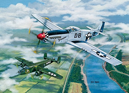 Escort to Oshkosh, A 1000 Piece Jigsaw Puzzle by Cobble Hill (1000 Piece Airplane Puzzle compare prices)