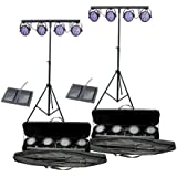 2 CHAUVET MINI-4BAR LED Pro DJ Stage Wash Light Systems