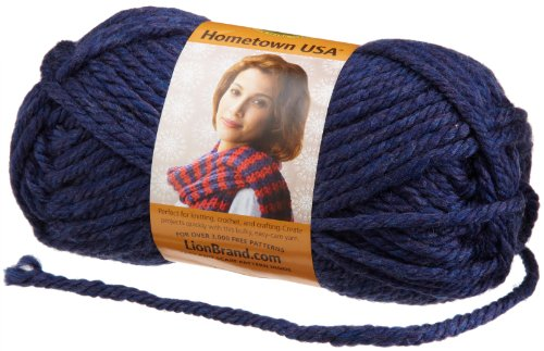 Lion Brand Yarn 135-111L Hometown USA Yarn, San Diego Navy