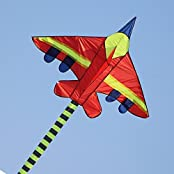 """Kufox-kite Airplane Battleplane Kites 57""""x39"""",Easy To Fly High In The Sky,With Handle And Line Ready"""