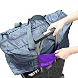 Luggage Bag Folding Luggage for Travel Camping Sports Gear or Gym Purple