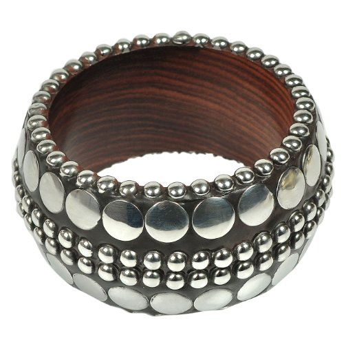Indian Fashion Jewellery Bangles Steel and Wood