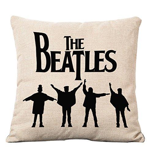 Vintage The Beatles Rock Band Muster Baumwolle Leinen-Mischgewebe Baumwolle Leinen Kissenbezug 45,7x 45,7cm, Baumwolle / Leinen, Style 1