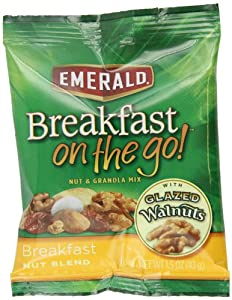 Emerald Breakfast On The Go Nut Blend, Breakfast, 1.5-Ounce (Pack of 24)