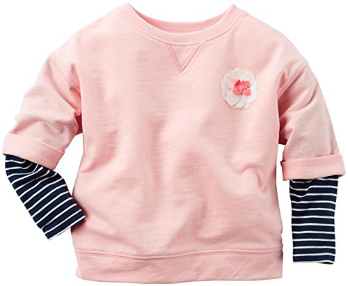 Carter's Baby Girls Knit Fashion Top, Pink, 24 Months