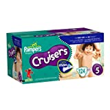 Pampers Cruisers Dry Max Diapers, Size 5, 124 Count ~ Pampers