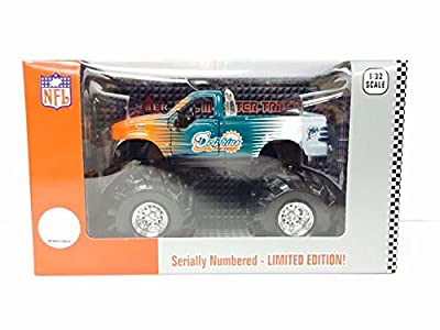 Ford F-350 Monster Truck Miami Dolphins Diecast Misb Collectible Nfl