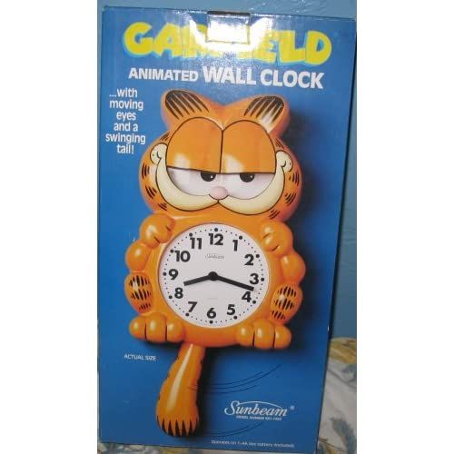 Amazon.com - Garfield Animated Wall Clock with moving eyes & swinging