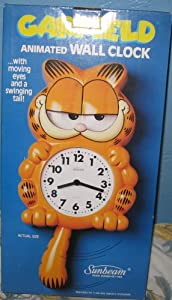 Garfield Animated Wall Clock with moving eyes & swinging tail