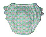 Lässig yo toco ropa de descanso para niñas' bolsa de natación con cierre 4 unidades de pañales de tipo libro con función de la radiación ultravioleta juego de skins protectores de +, 6 meses, diseño de Leah hoeslcher