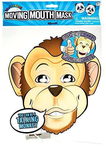 Moving Mouth Mask-Paper Monkey Face-Talking Headz Critter