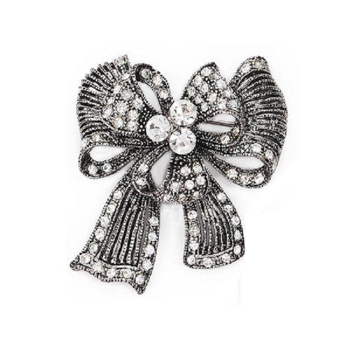 Fashion Trendy Brooch Antique Silver #008358