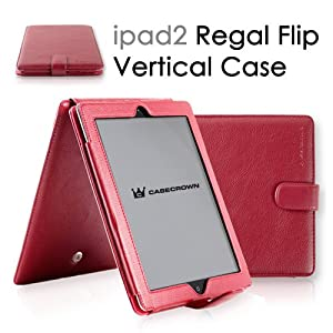 CaseCrown Regal Vertical Case for iPad 2 - Red