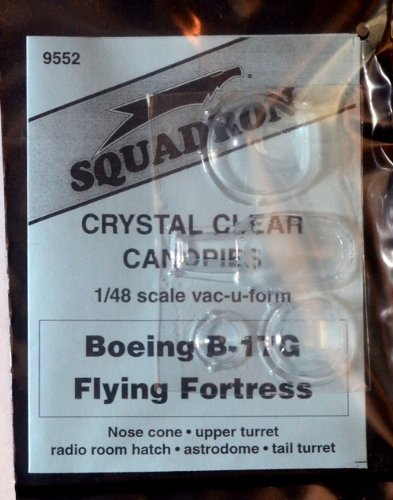 Squadron Products B-17G Vacuform Canopy Set #2