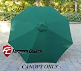 Lawn & Patio - 9ft Replacement Canopy 8 ribs in Hunter Green (Canopy only)