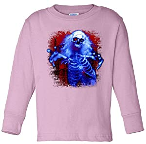 Sinister Skeleton Ghost Toddler long sleeve T-Shirt hotpink 2T