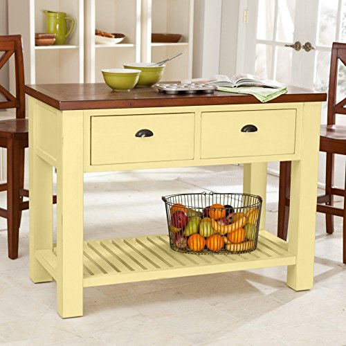 Belham Living Belham Living Carlton Kitchen Island with Pass-Through Drawers-Rustic Buttermilk, All Other Colors, Wood, 48 inches