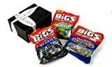 BIGS Sunflower 3 Flavor Variety: Salted and Roasted, Vlasic Dill Pickle, and Sea Salt & Black Pepper, 3- 5.35oz Bags in a Gift Box