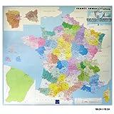 echange, troc IGN - France administrative poster plastifié 100 x 74 cm : 1/1 400 000