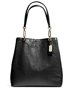 Coach Madison North/South Tote In Leather (Liblk) from Coach