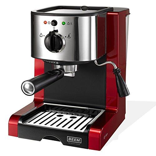 Germany Espresso Perfect Crema, Espresso-Siebträgermaschine mit 15 bar, Edition Eckart Witzigmann, brillantrot