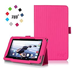 Acer Iconia B1720 Case Cover, FYY Classic Slim Fit Folio PU Leather Case for Acer Iconia B1720 Magenta (With Auto Wake/Sleep Feature)