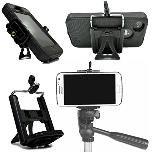 Cell Phone Tripod Adapter Mount and Desk Stand Holder for iPhone 7 SE 6S 6S Plus 6 6 Plus 5S 5C 5 4S 4 Samsung Galaxy S7 S7 Edge S6 S5 S4 S3 S2 and more by DaVoice (To Mobile Phones compare prices)