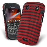 Celicious Red Hybrid Vent Gel Combo Case for BlackBerry Bold 9900