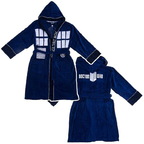 Doctor Who Hooded Bathrobe, One Size Fits Most
