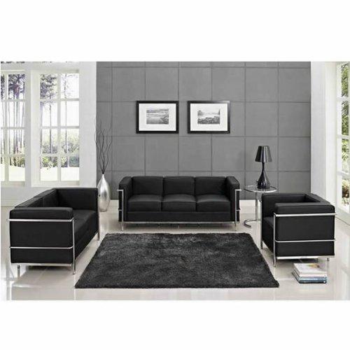 Cheap Price Perfect Combination Le Corbusier LC2 Black Leather Sofa ...