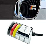 B038 Car Styling Accessories Chromed Emblem Badge Decal Sticker M Front Grille Germany For BMW X1 X3 X5 X6 M3 M5 E46 E39 E36 E60 E34 E90 E65 E70 E53 E87