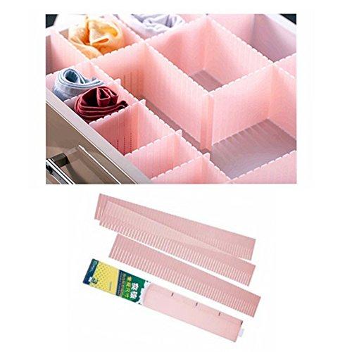 3x bande Séparateur de tiroir de rangement organiseur jusqu'à 60cm de long Armoire de cuisine Boîte à outils selforganiser