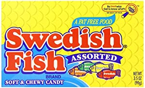 Swedish Fish Soft & Chewy Candy, Assorted, 3.5 Ounce Box (Pack of 60)