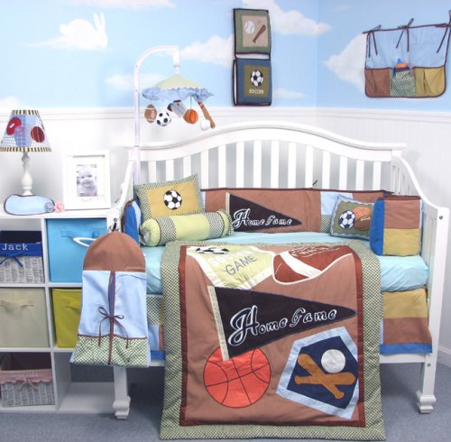 Athletic Club Baby Infant Crib Nursery Bedding SET 10pc