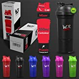 Shaker Bottle Protein Shaker Cup With Protein Compartment & Protein Mixer 350ml