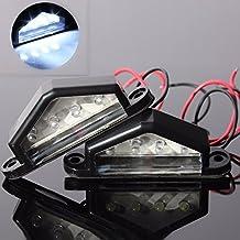 Alcoa Prime 2Pcs/Pair 12V/24V 4LEDs Number Licence Plate Light Rear Tail Lamp Truck Trailer Lorry Auto Lights...