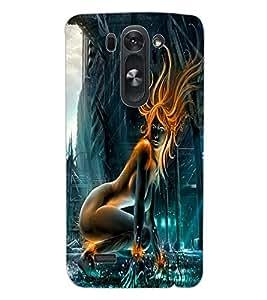 ColourCraft Digital Girl Design Back Case Cover for LG D722 K