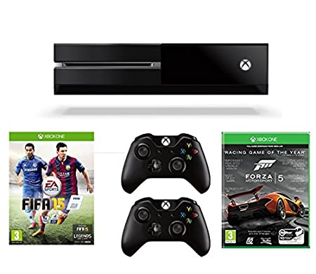 Xbox One Console, FIFA 15, Two Wireless Controllers and Forza 5: Racing Game of the Year Edition (Full Game Download)