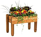 "Raised Table Planter Cedar 23"" W X 48"" L"