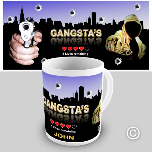 Personalised Gangstas Gift Coffee Mug